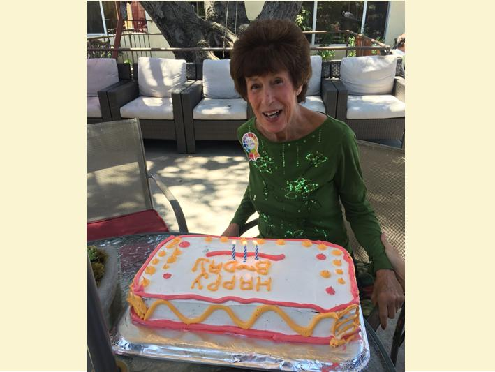 Birthday party on the patio at Wellness Care Senior Living at Ojai.